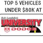 University Dodge Top 5 Under $80k