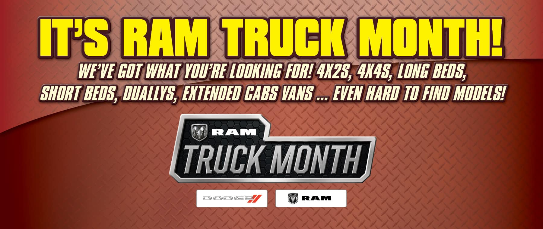 It's RAM Truck Month! - At University Dodge RAM!