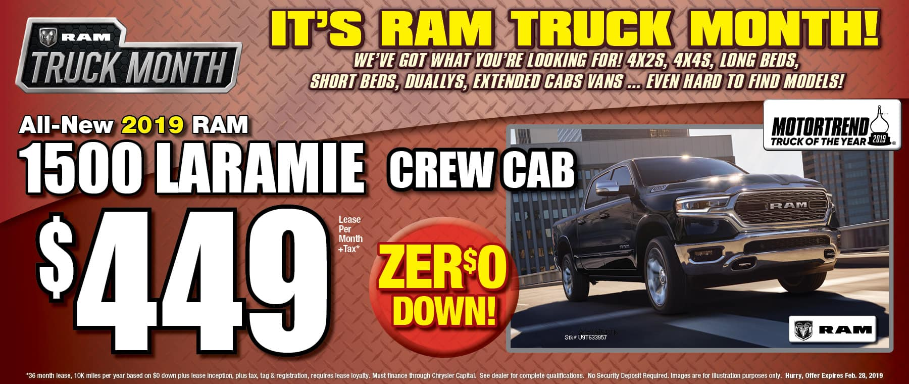 All New 2019 Ram Laramie! - University Dodge RAM!
