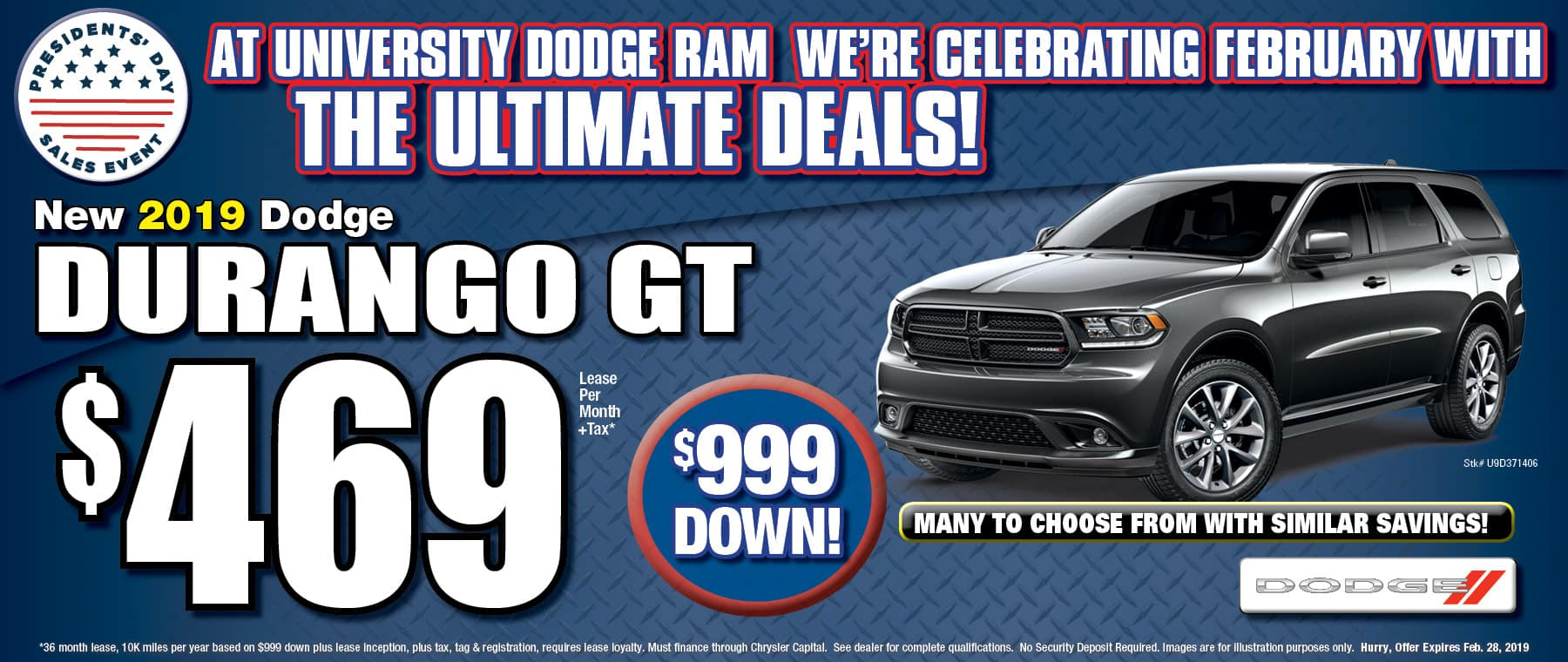 New 2019 Dodge Durango GT! - University Dodge RAM!