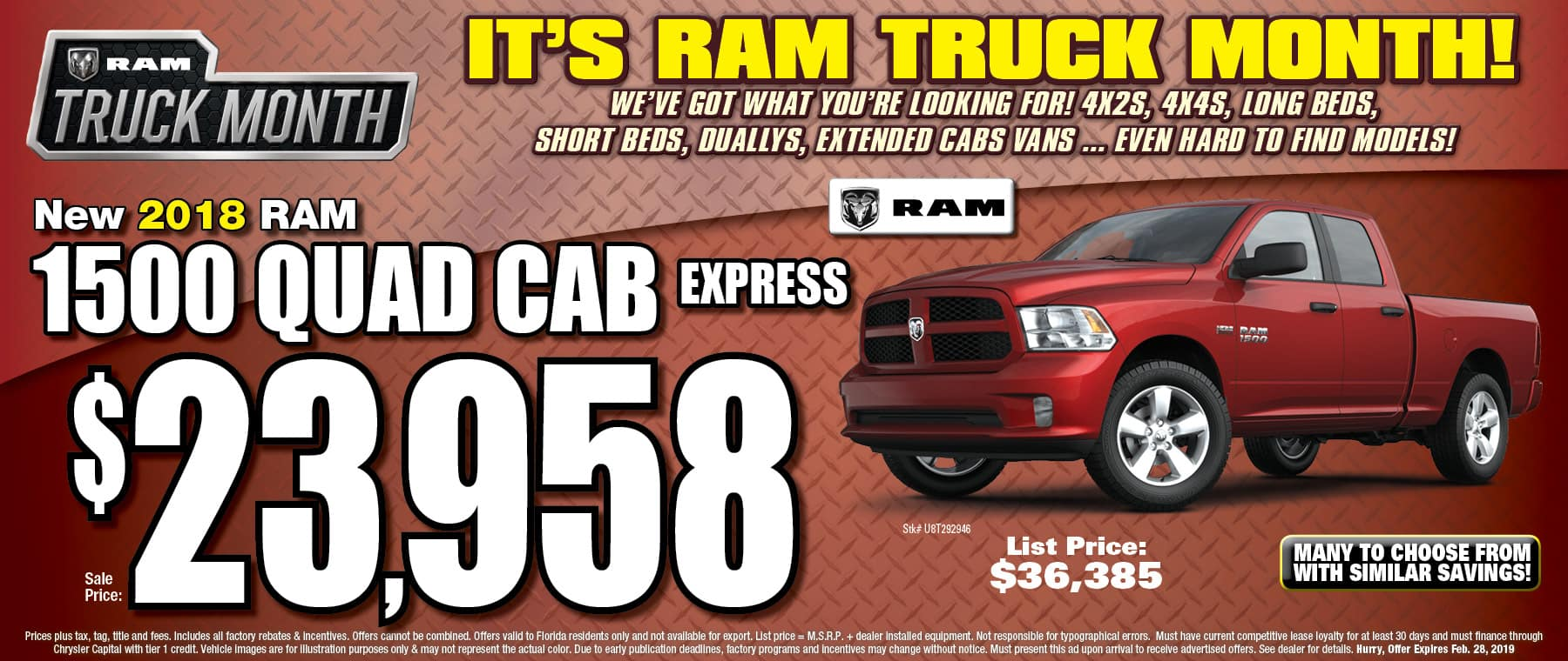 New 2018 RAM Quad Cab Express! - University Dodge RAM!