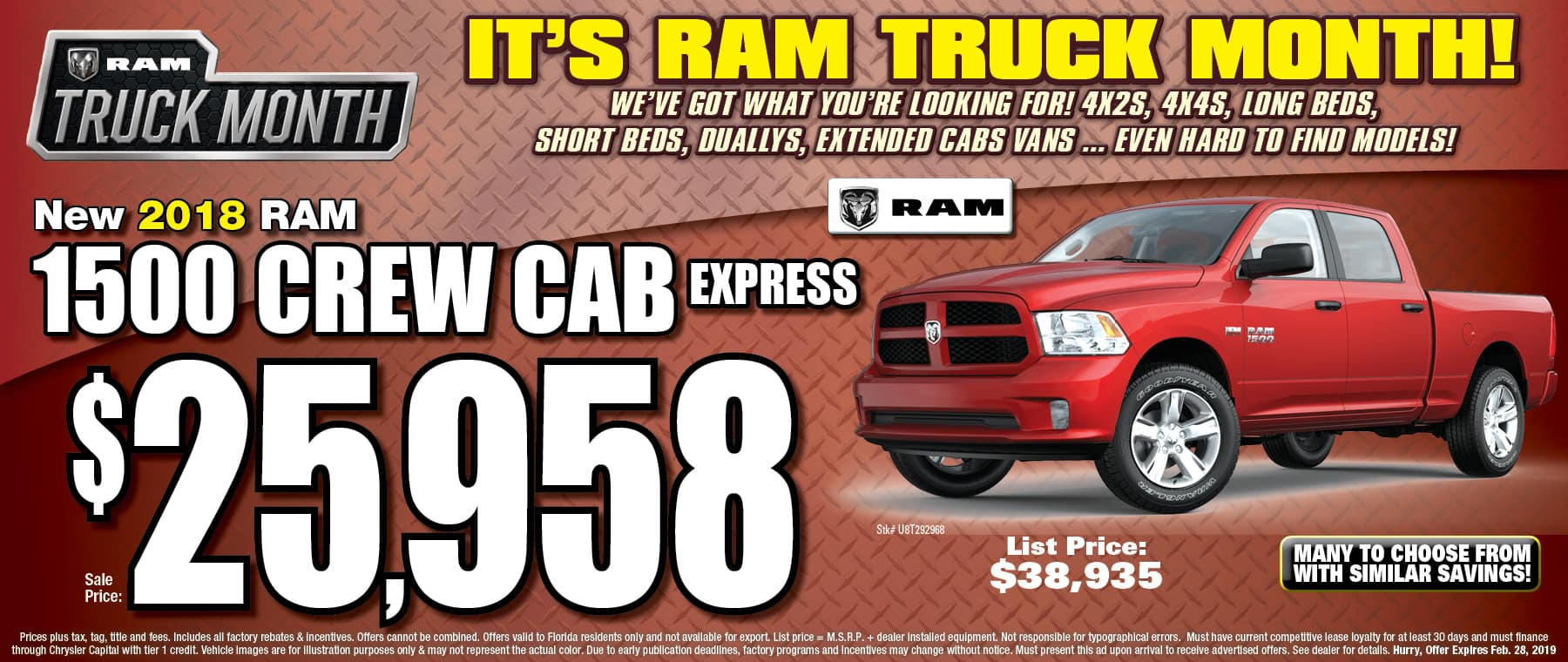 New 2018 RAM Crew Cab Express! - University Dodge RAM!