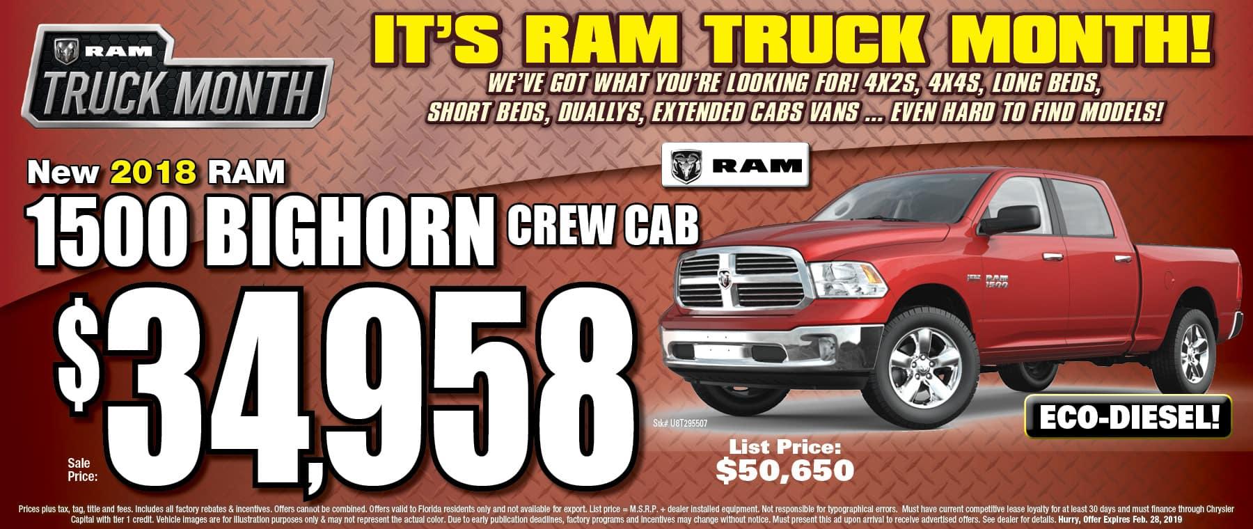 New @018 RAM Bighorn! - University Dodge RAM!
