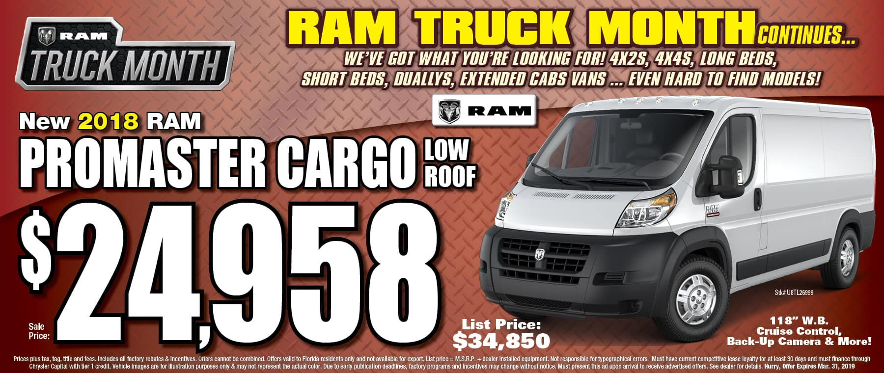 New Ram Promaster Cargo!