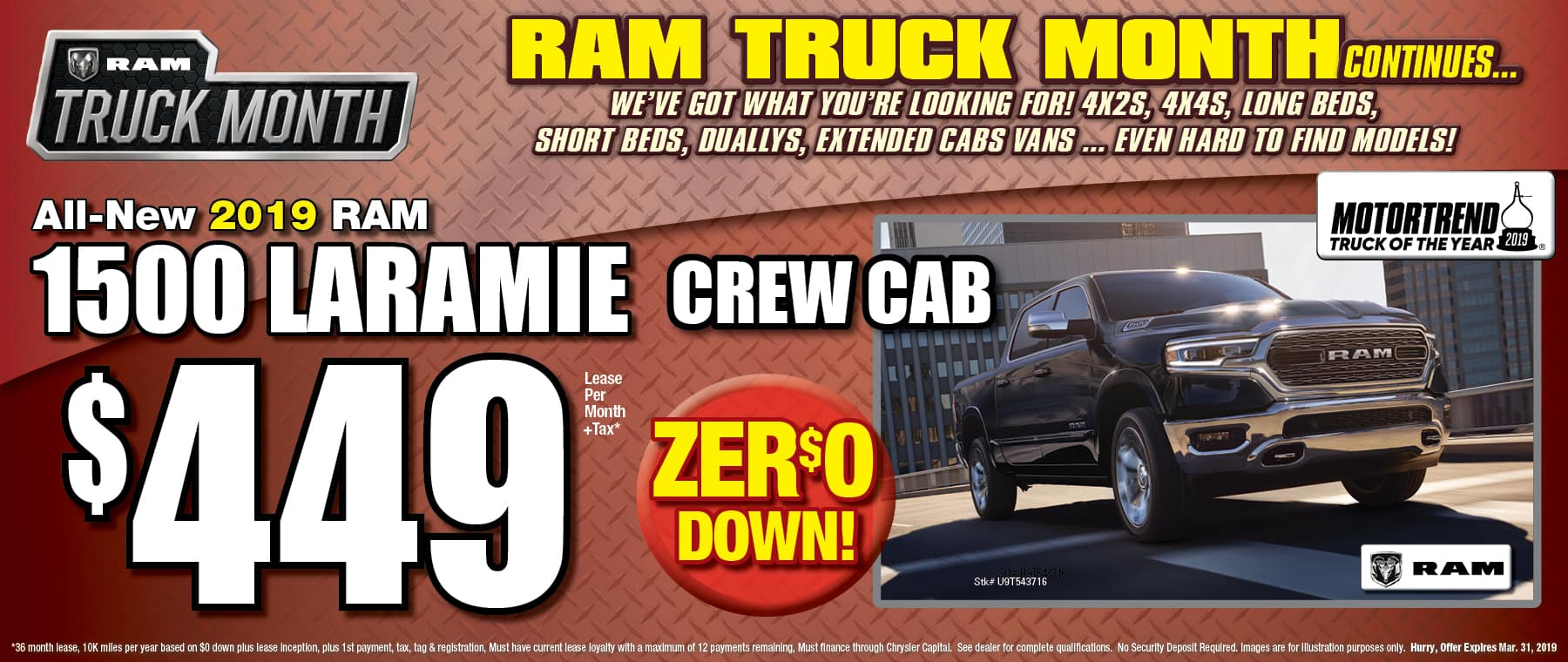 All New 2019 Ram Laramie