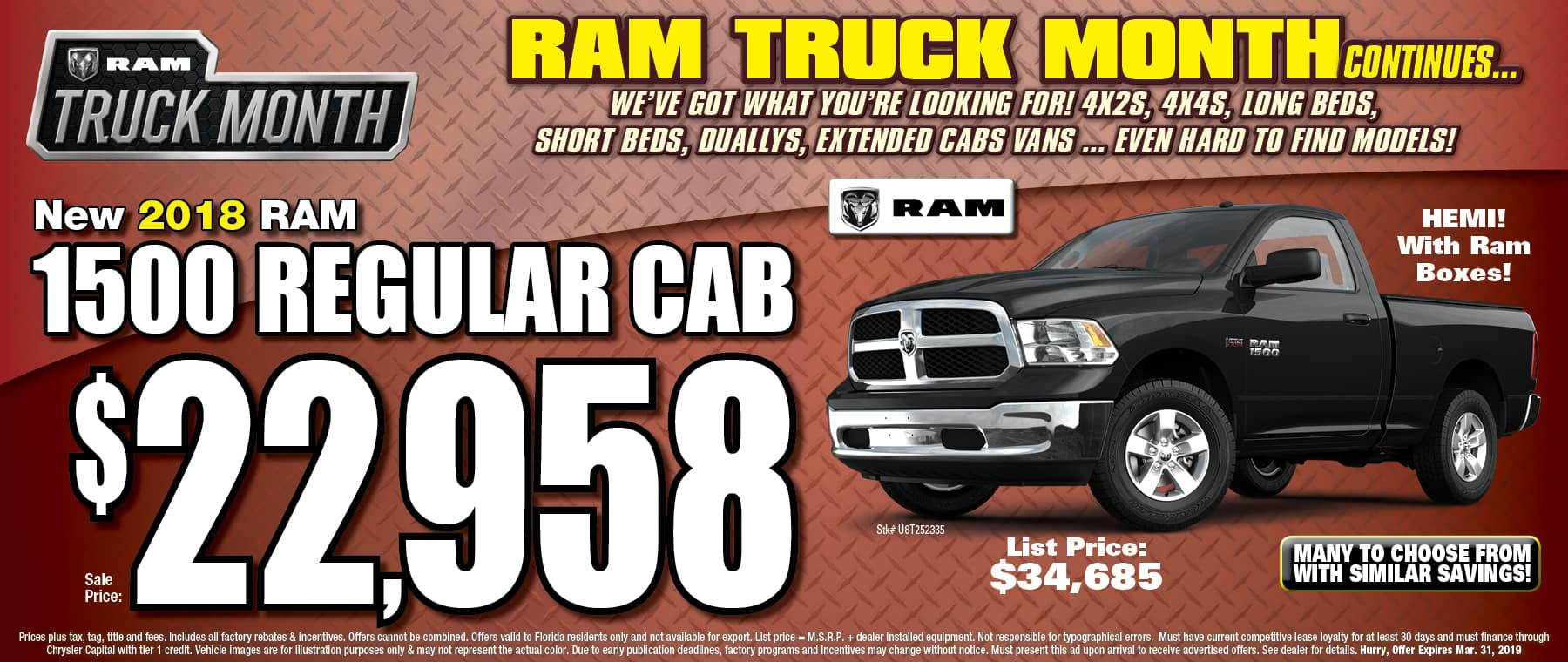 New 2018 Ram Regular Cab!
