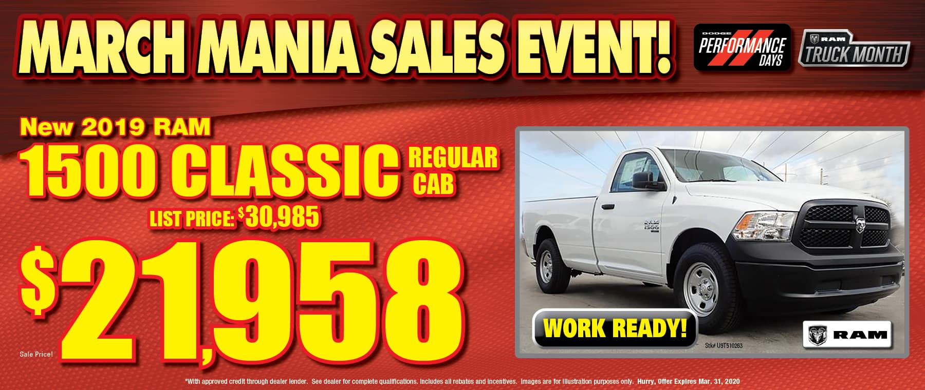New Ram Regular Cab Classic!