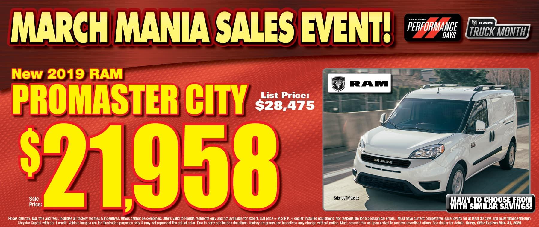 New Ram Promaster City! - At University Dodge RAM!