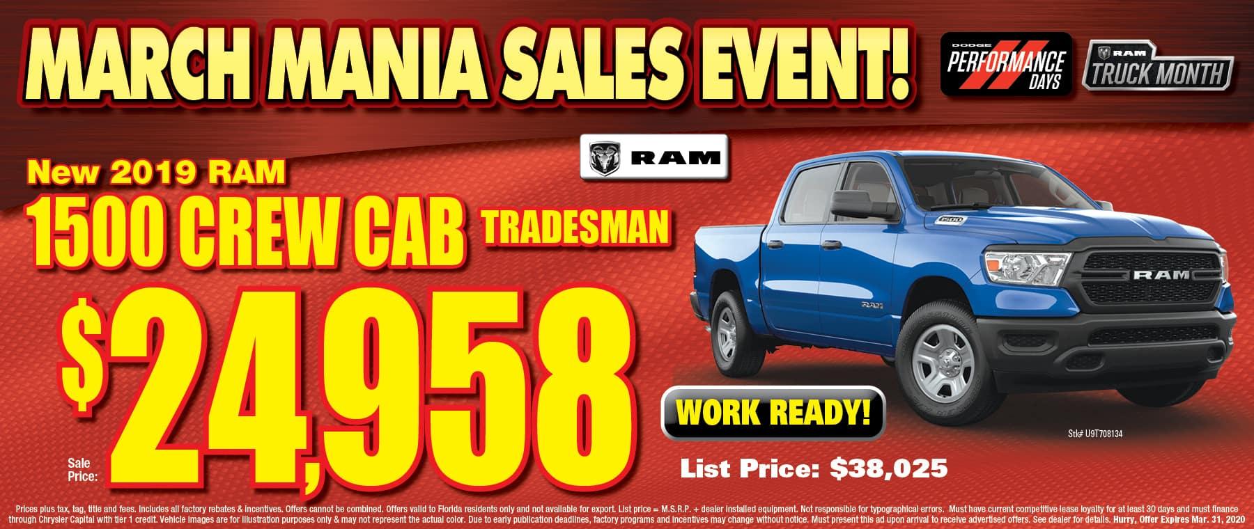 Ram Crew Cab Tradesman!