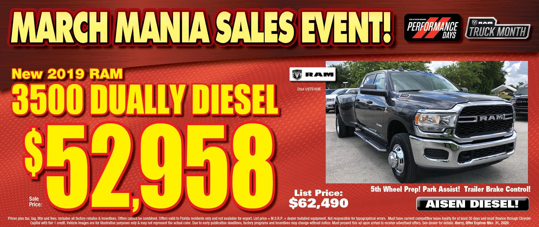 New Ram Dually Diesel!