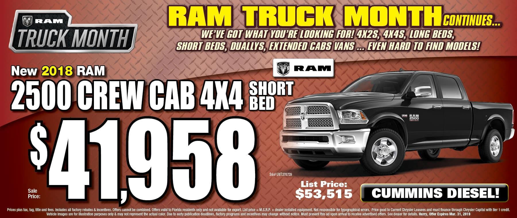 New 2018 Ram 2500 Crew Cab!