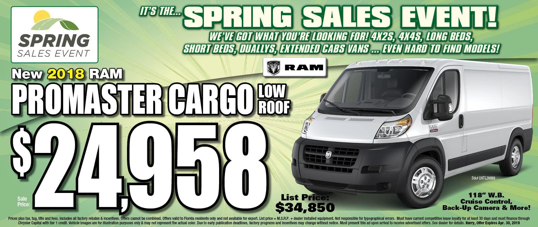 Ram Promaster Cargo! - Get Your Business Running at University Dodge RAM!
