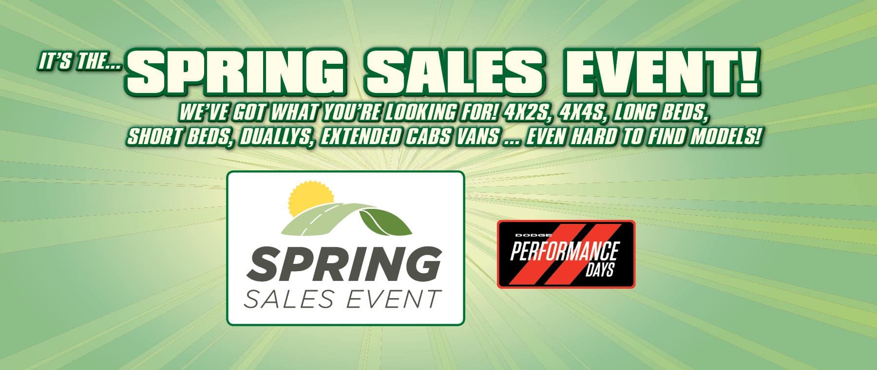 Spring Sales Event! - At University Dodge RAM!