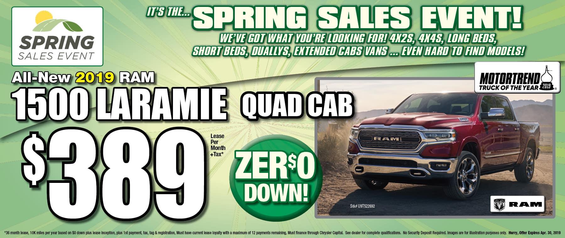 New 2019 Ram Laramie Quad Cab!