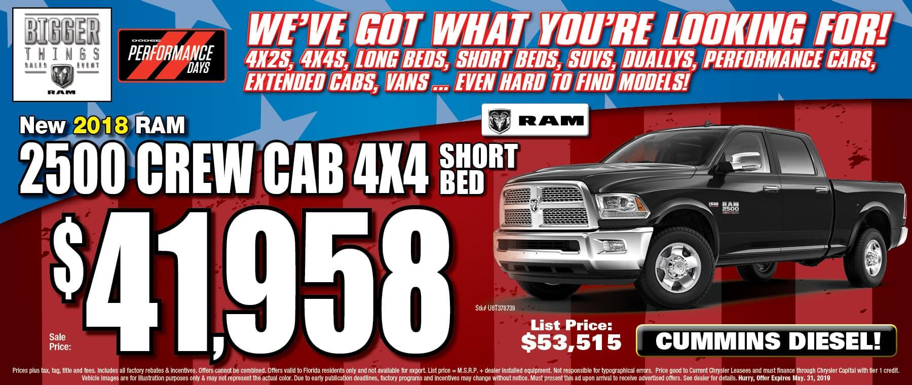 Ram Crew Cab Short Bed!