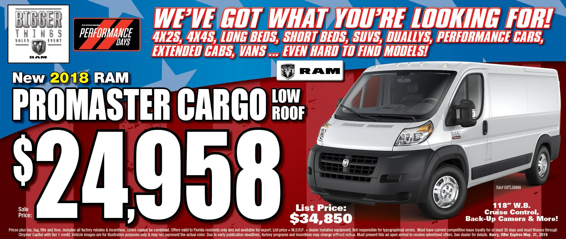 Ram ProMaster Cargo!