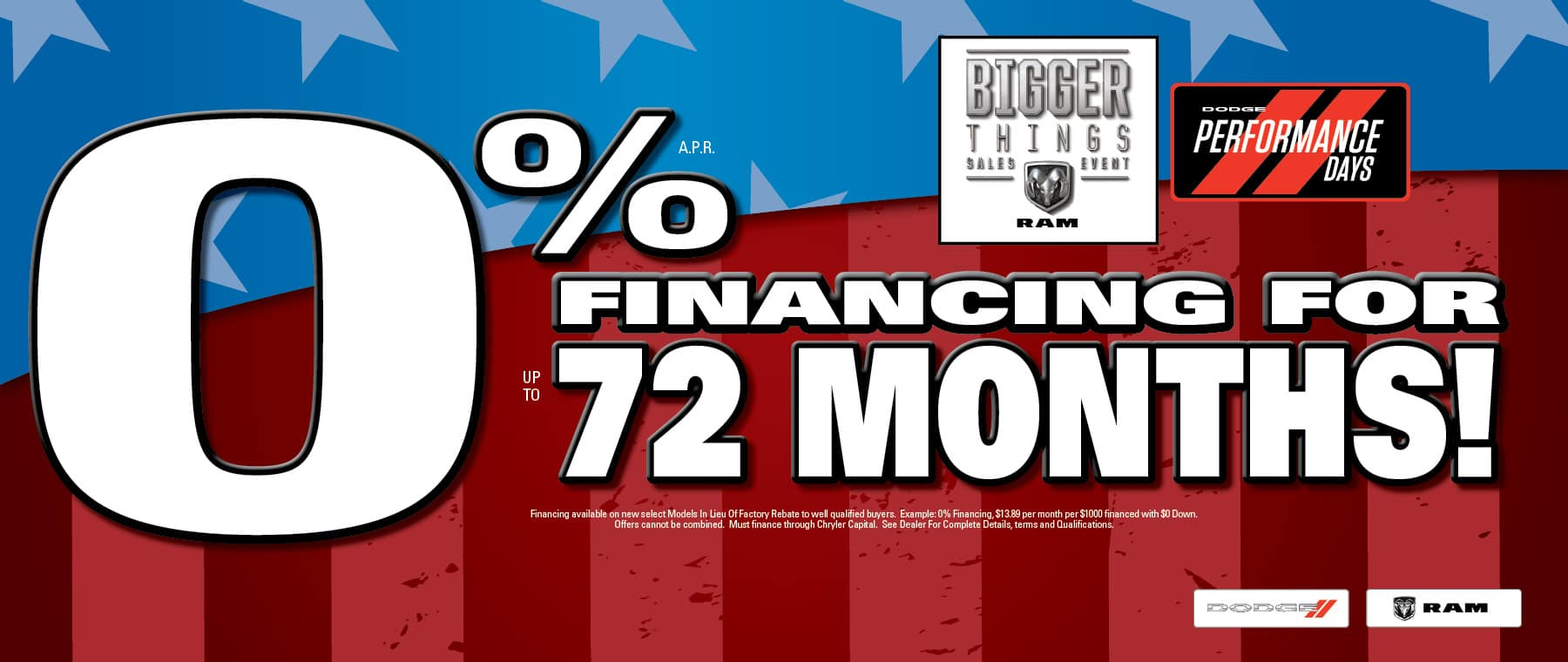 0% Financing at University Dodge RAM!