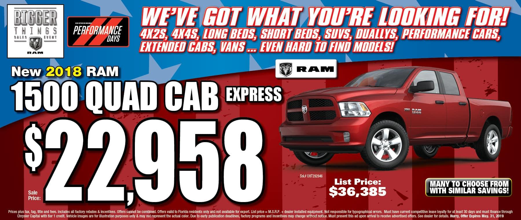 Ram Quad Cab Express!