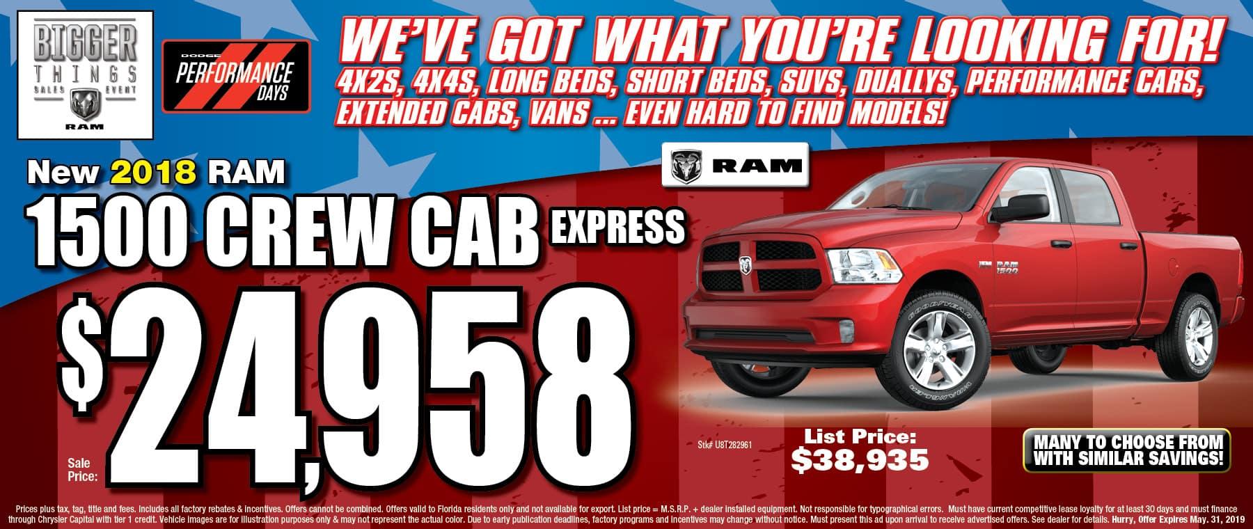 New Ram Crew Cab Express!