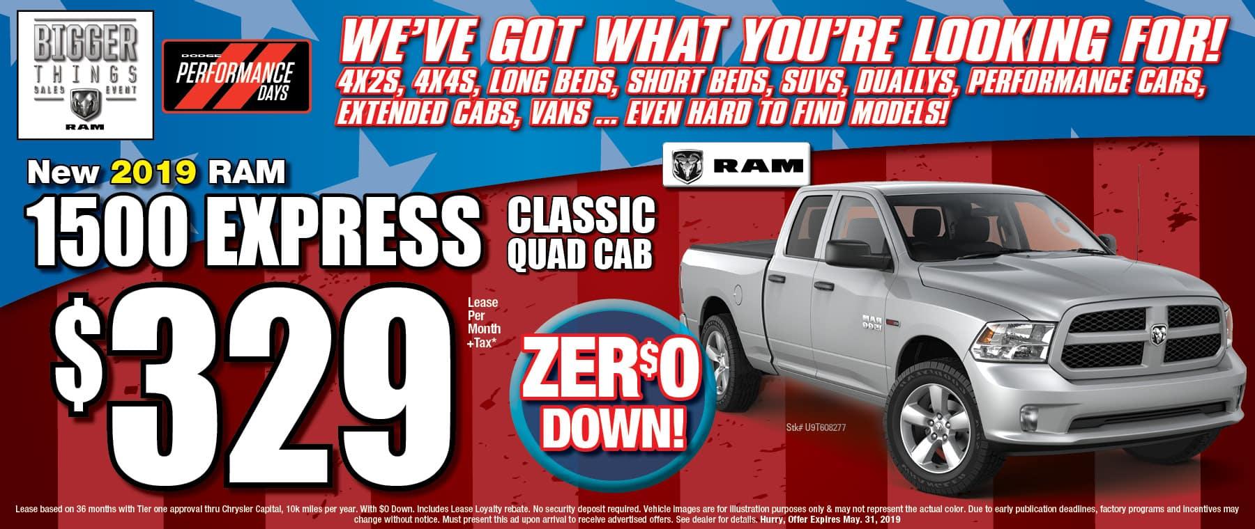 New 2019 Ram 1500 Quad Cab Express Classic!