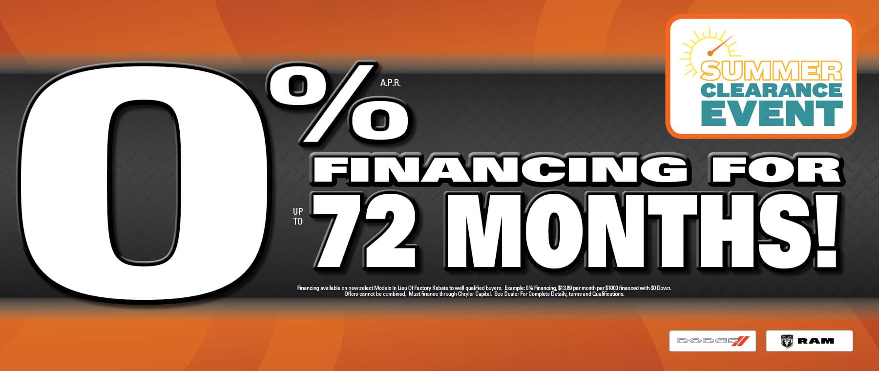 0% Financing Available at University Dodge RAM!