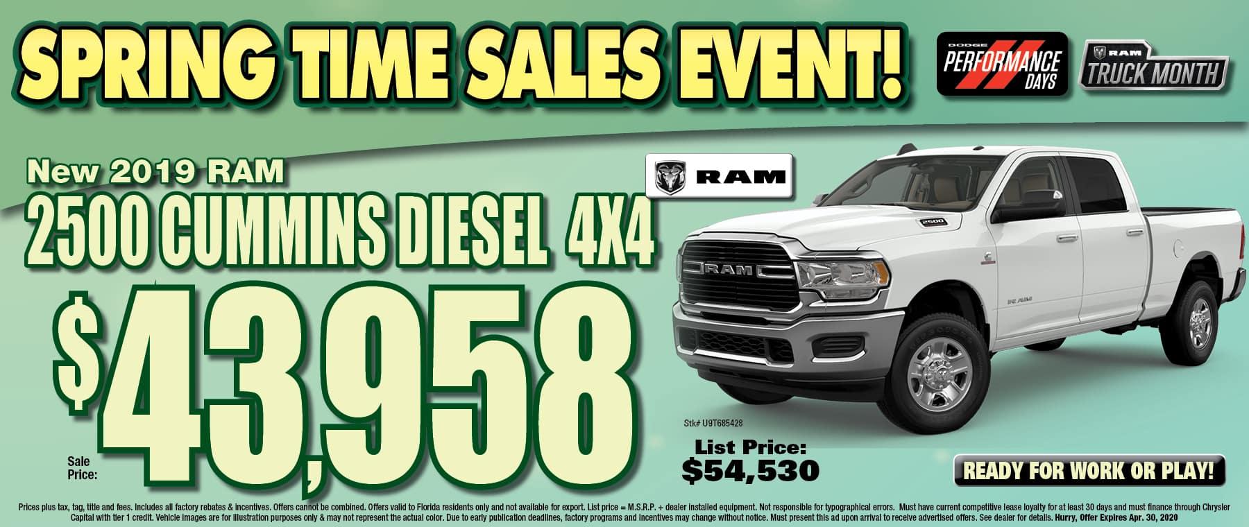 New Ram 2500 Diesel!