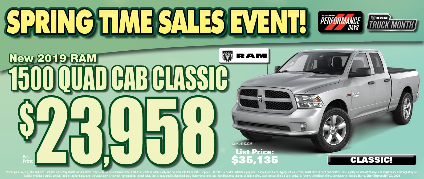 New Ram Quad Cab Classic!