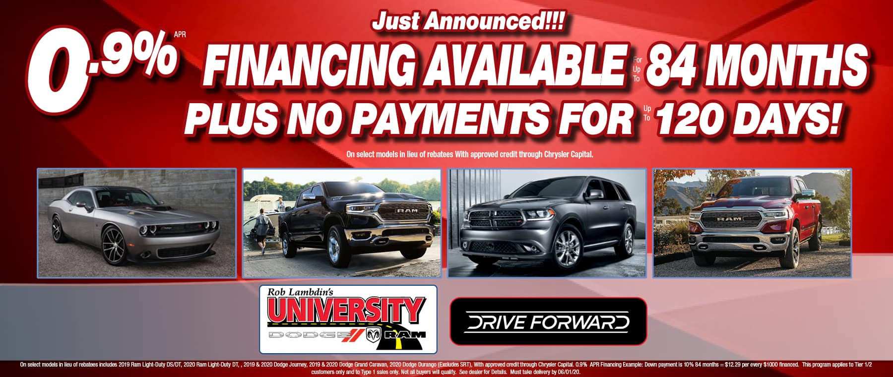0.9$ Financing for 84 Months!