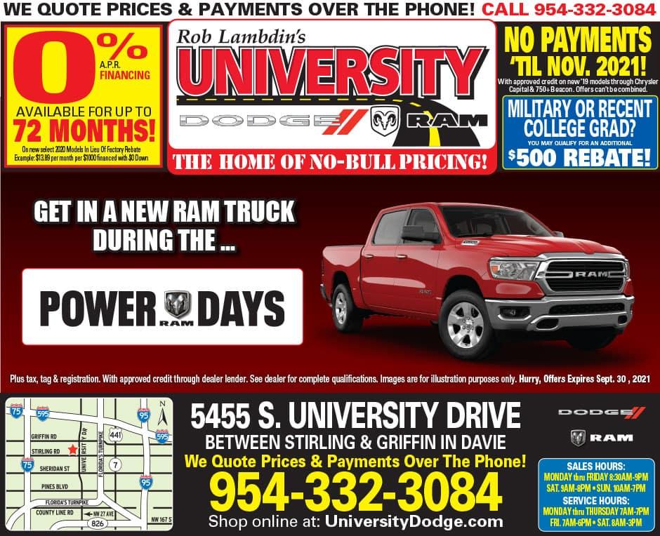University Dodge Specials!