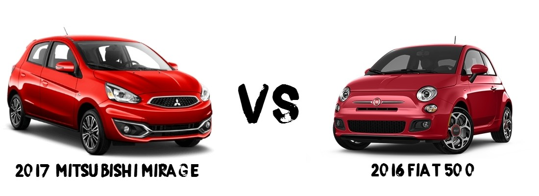 2017 Mitsubishi Mirage 2016 Fiat 500 Comparison