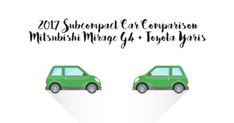 University Of Toyota >> 2017 Mitsubishi Mirage G4 V 2017 Toyota Yaris