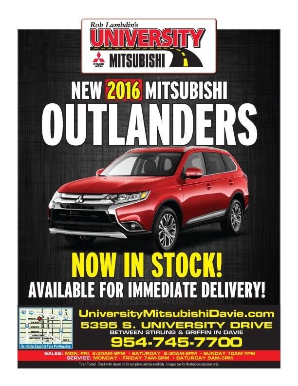 Newspaper Ad University Mitsubishi