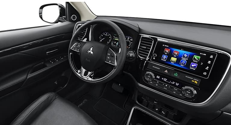 2018 mitsubishi outlander interior entertainment university mitsubishi