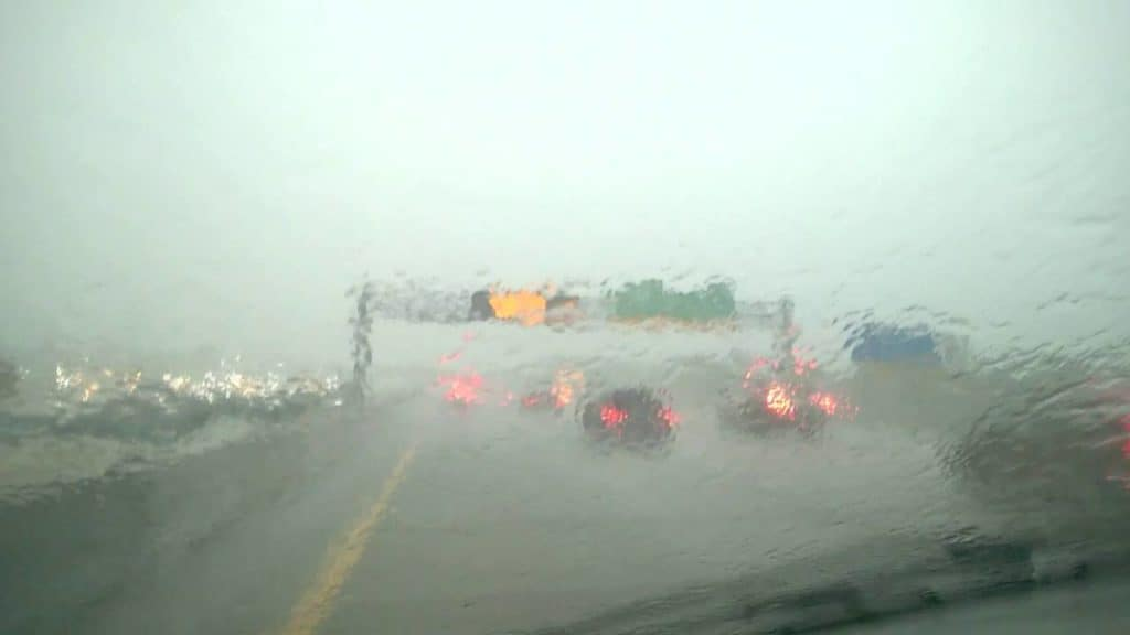 University Mitsubishi Safe Driving Rain