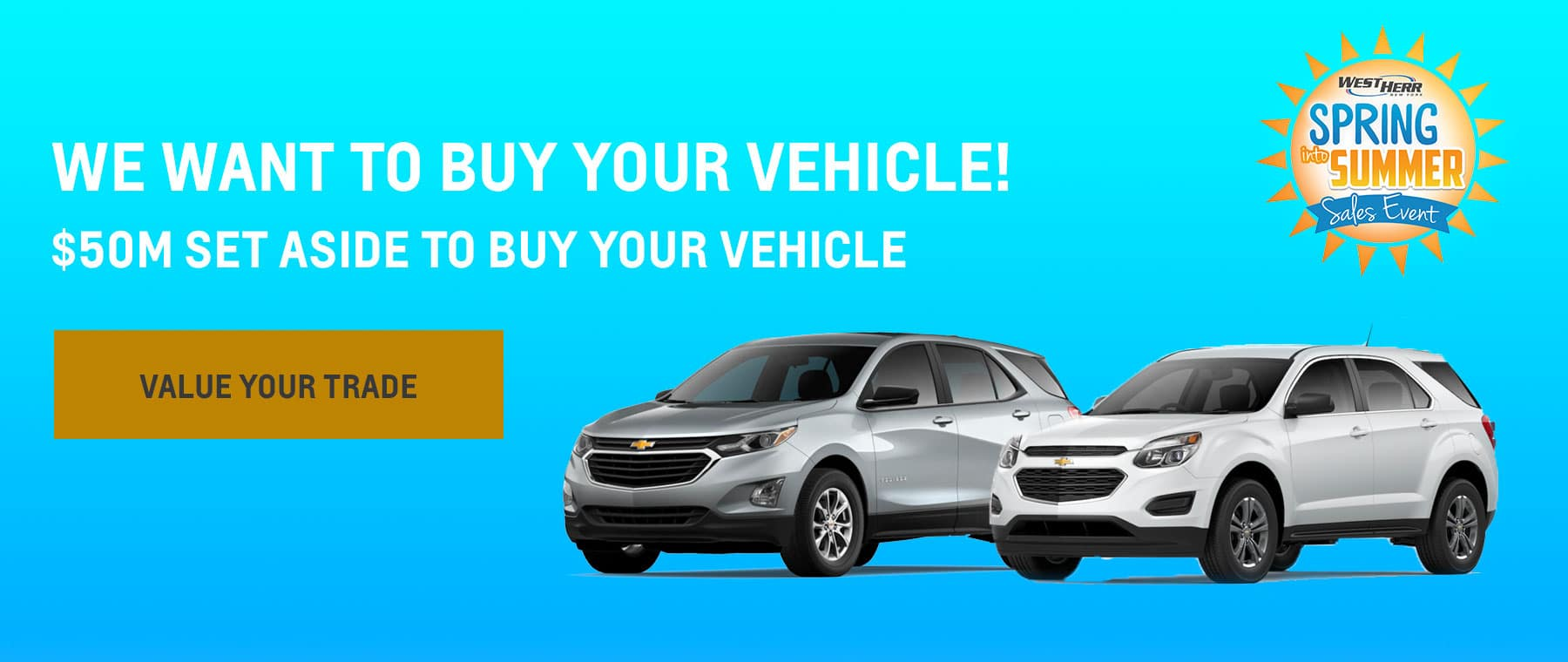We Want to Buy Your Vehicle! Subtext: $50M set aside to buy your vehicle