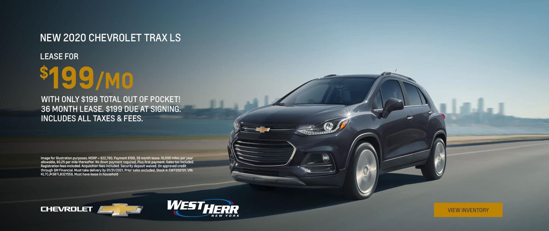 2020 Chevrolet Trax LS - Jan 2021