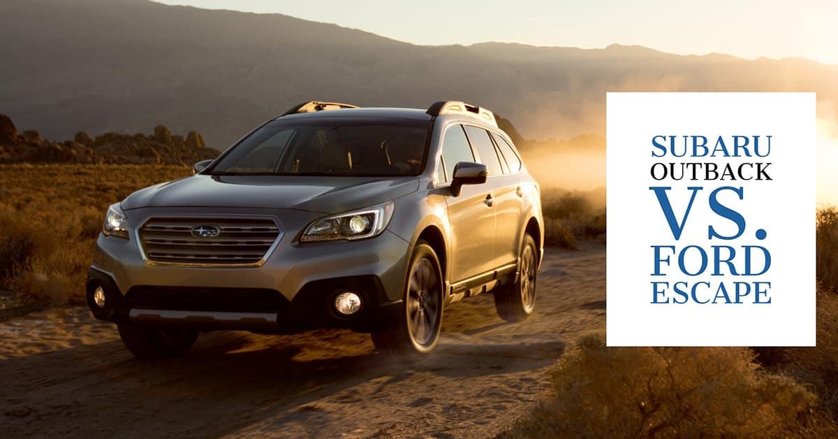 Subaru Outback Vs Forester >> Subaru Outback vs. Ford Escape | Wilsonville Subaru