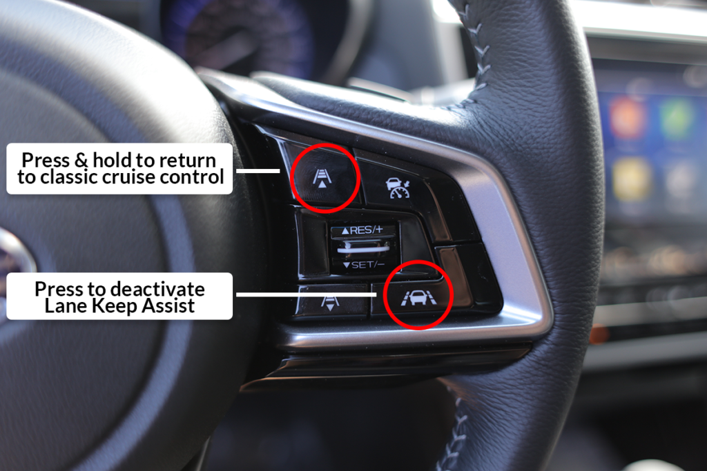 How to Disable Subaru EyeSight Driver Assist Technology