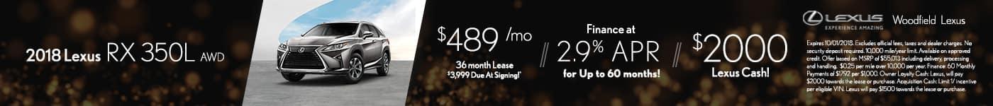 RX 350L September Offer
