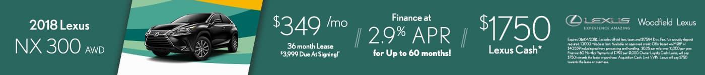 2018 Lexus NX300 Woodfield Lexus May Offer