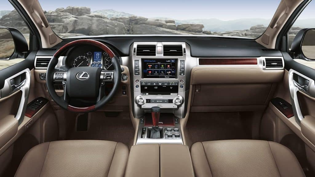 Image of the interior of a Lexus GX 460.