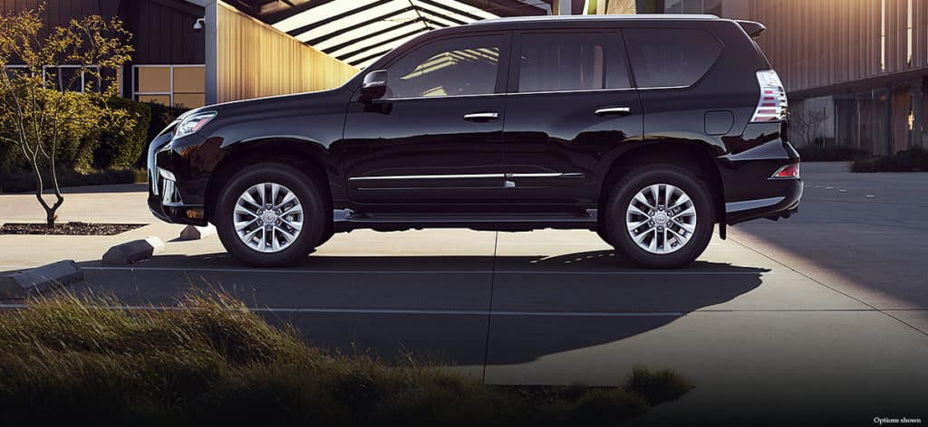 Image of a black 2019 Lexus GX 460 parked in a driveway.