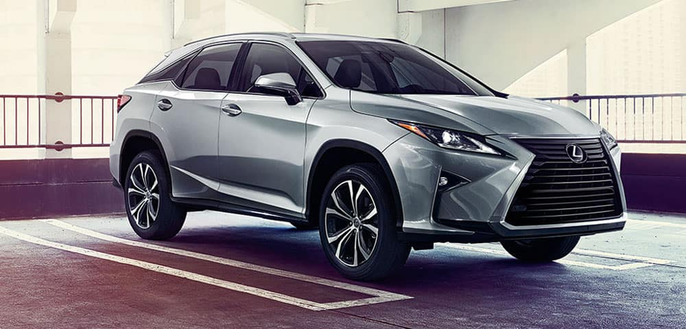 Image of a 2019 Lexus RX parked in a parking garage.