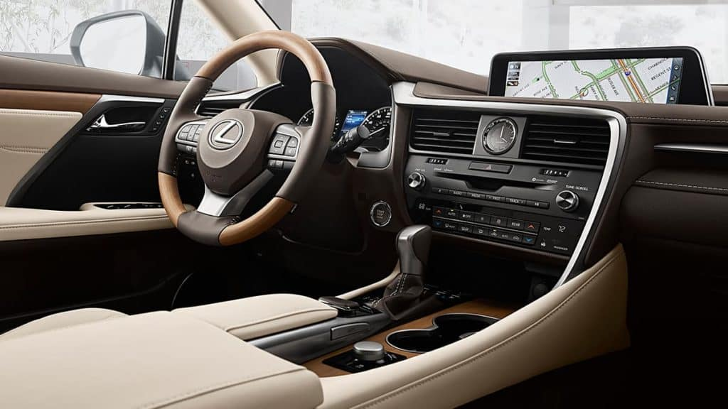 Image of the interior of a 2019 Lexus RX