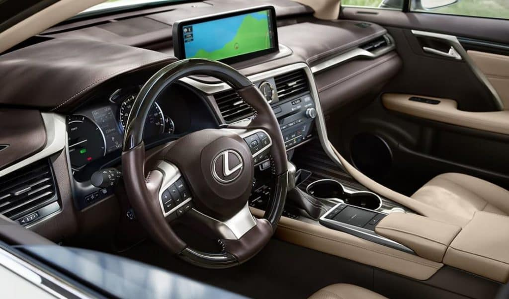 picture of interior of Lexus RX 350